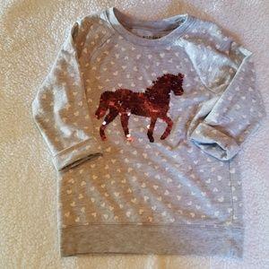Flip Sequins Unicorn 3/4 length Sweater